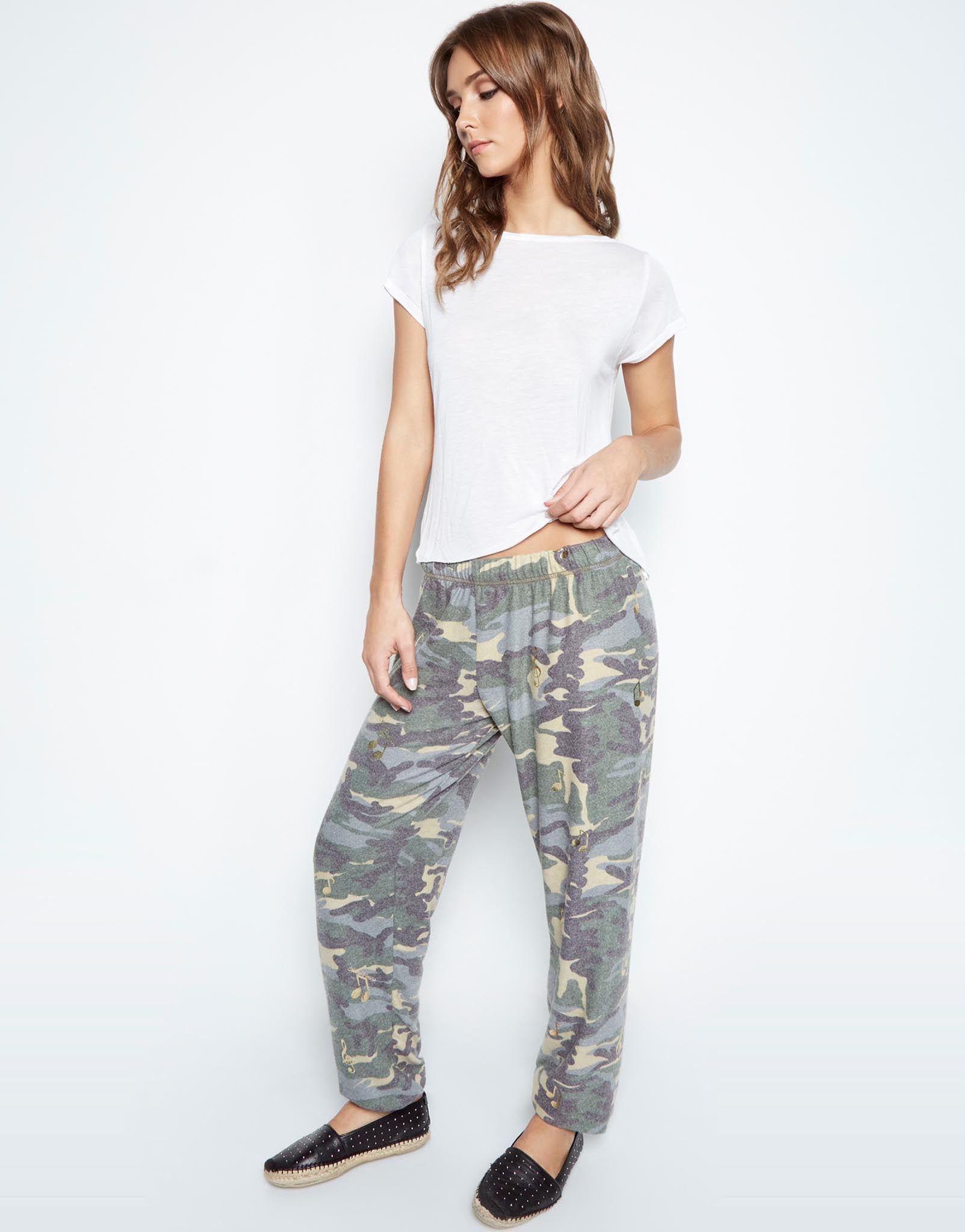 Tanzy Allover Music Notes Long Pant - Lauren Moshi