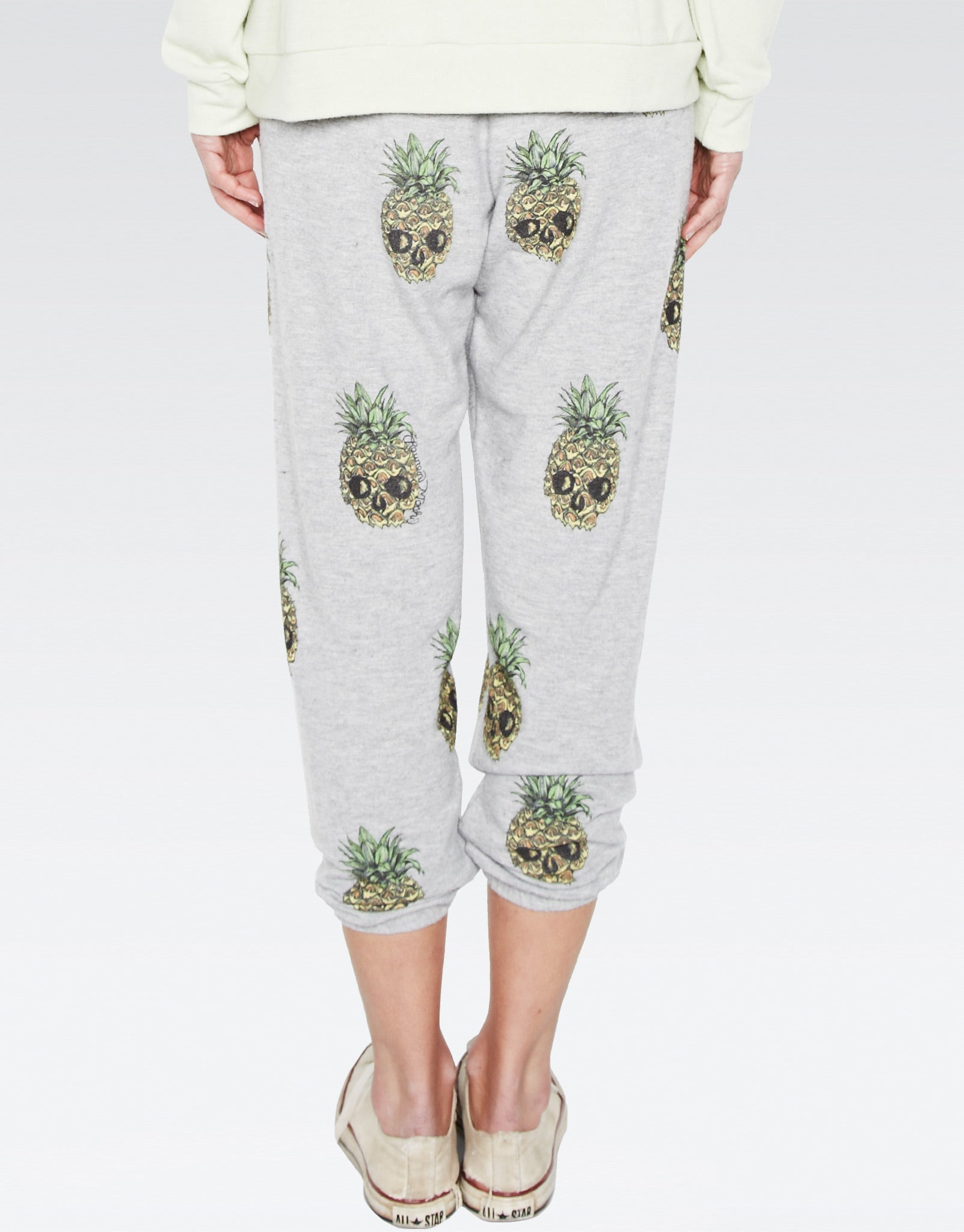 Alana Mini Color Pineapple Skulls Crop Sweat Pant - Lauren Moshi - 4