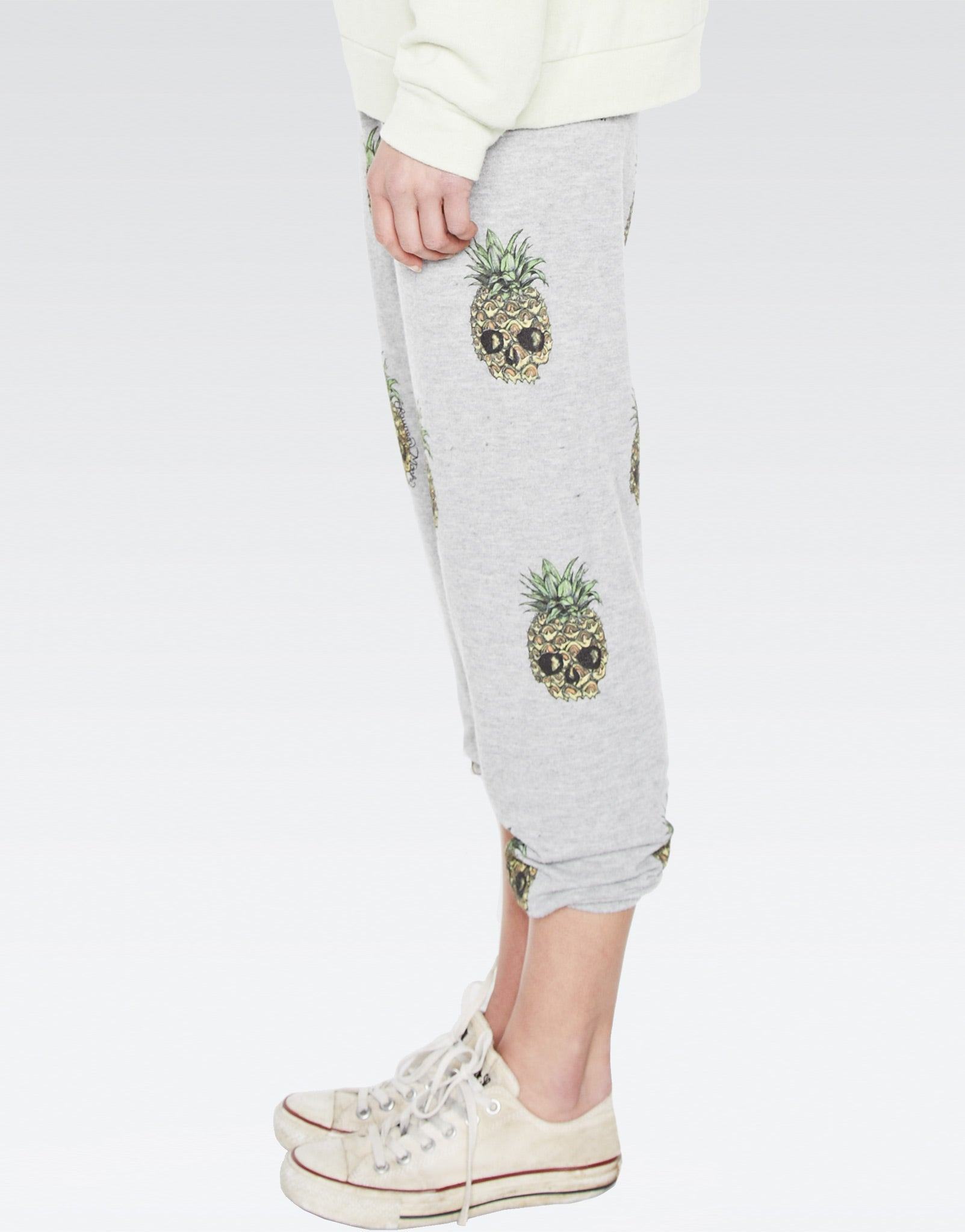 Alana Mini Color Pineapple Skulls Crop Sweat Pant - Lauren Moshi - 3