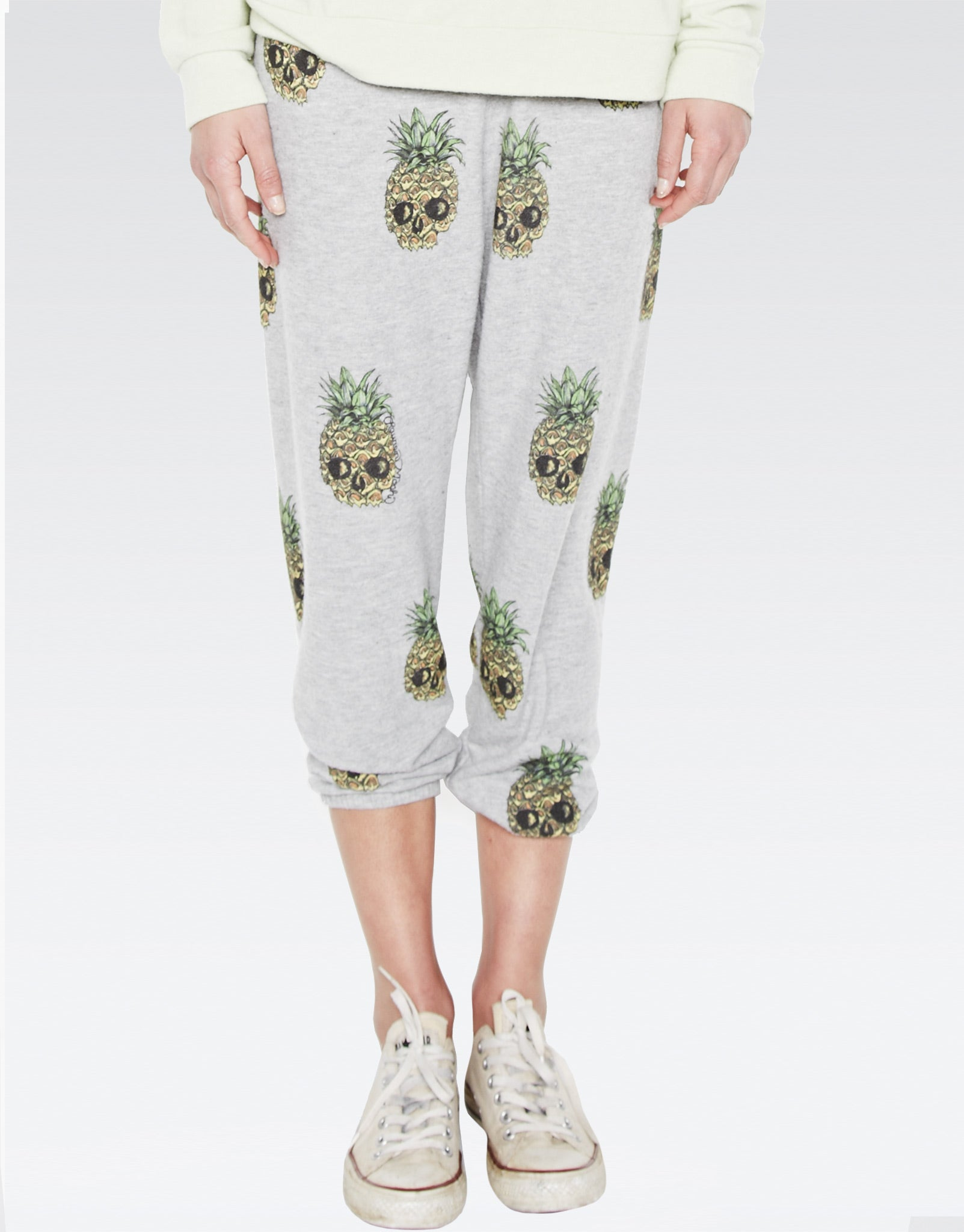 Alana Mini Color Pineapple Skulls Crop Sweat Pant - Lauren Moshi - 1