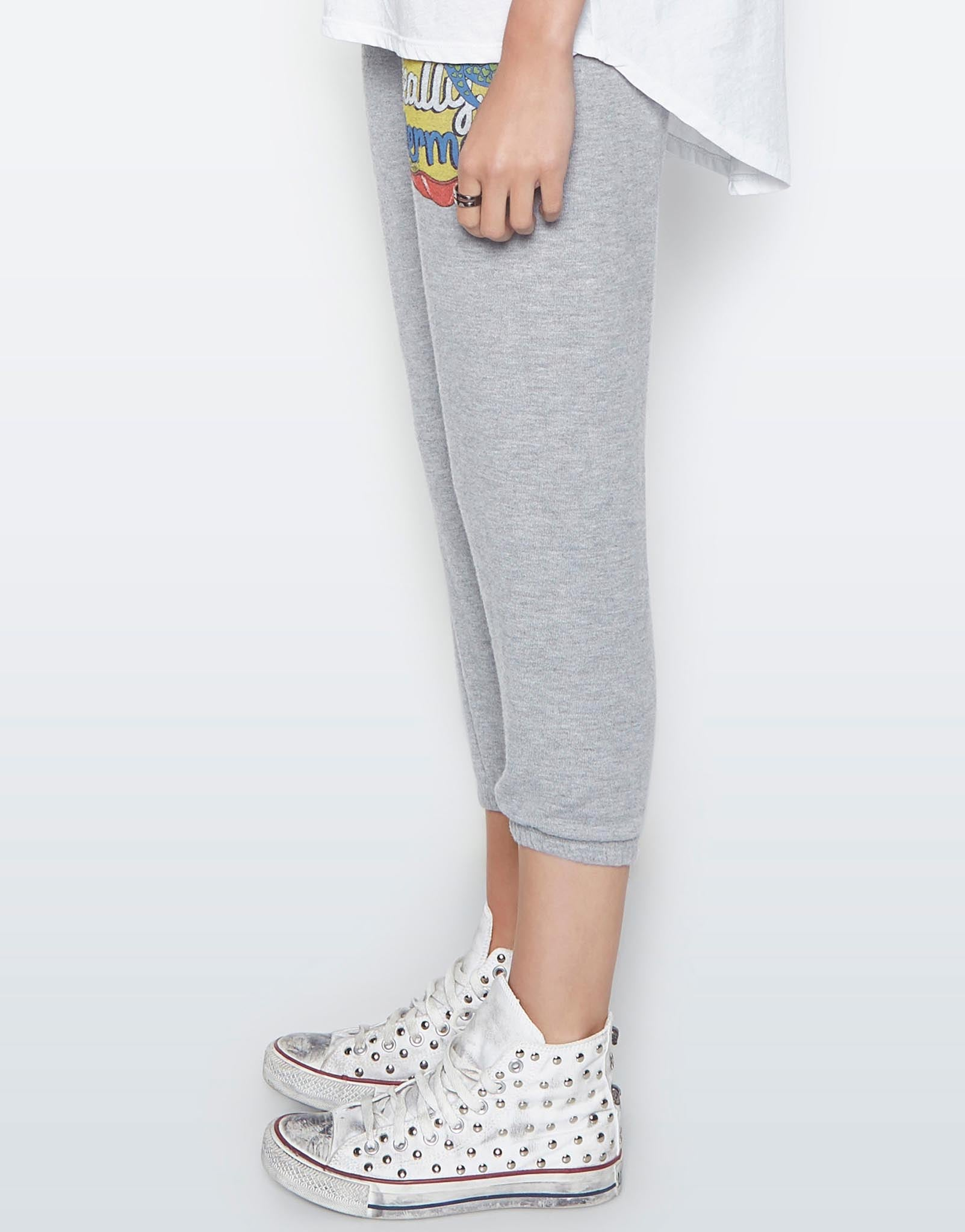 Lauren Moshi Women's Alana Mermaid Patches Crop Sweat Pant -