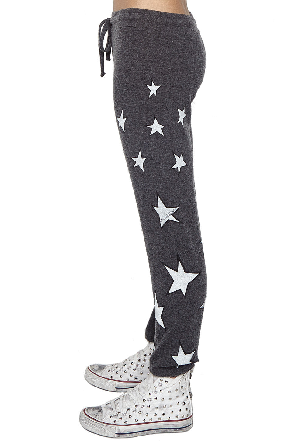 Lauren Moshi Women's X Exclusive X Kizzy Mini Shooting Stars & Star Eye Skull Sweatpant