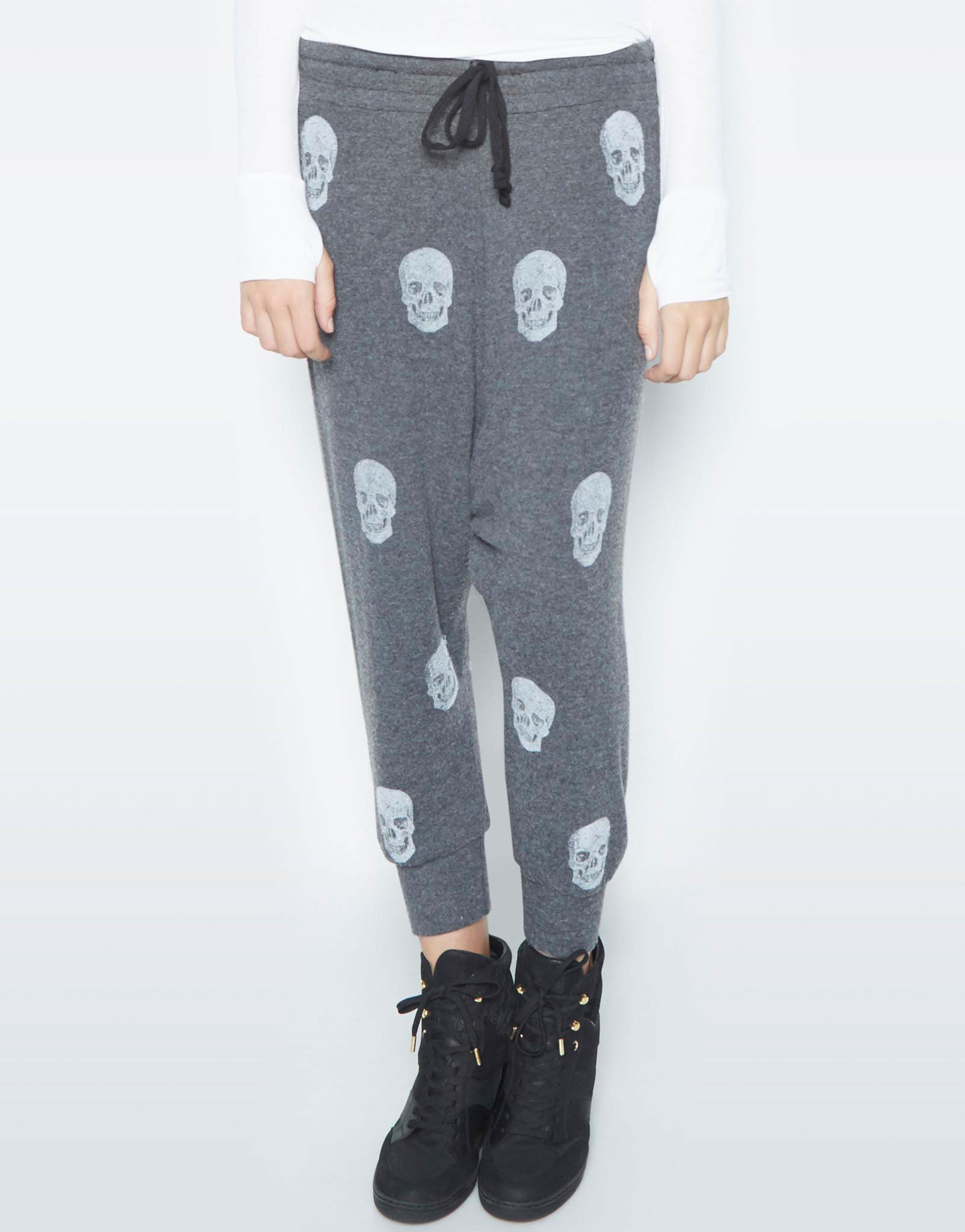 Vita Mini Heart Skulls Drop Crotch Pant - Lauren Moshi - 1