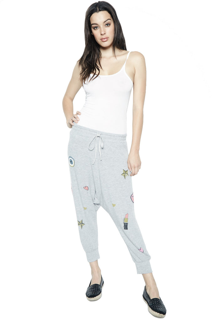 Vita Allover Glam Drop Crotch Pant