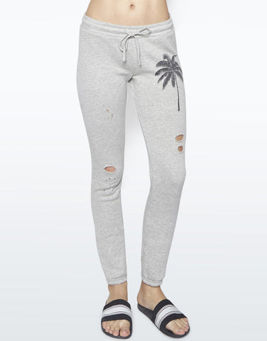 Lauren Moshi Women's Tiki Palm Vintage Jogger - Heather Grey