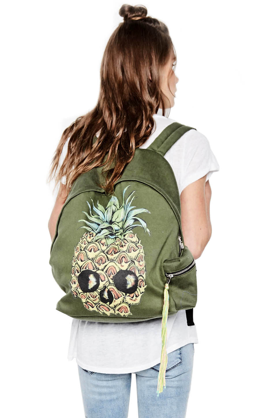 Quincy Color Pineapple Skull Backpack - Lauren Moshi - 1