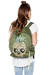 Quincy Color Pineapple Skull Backpack