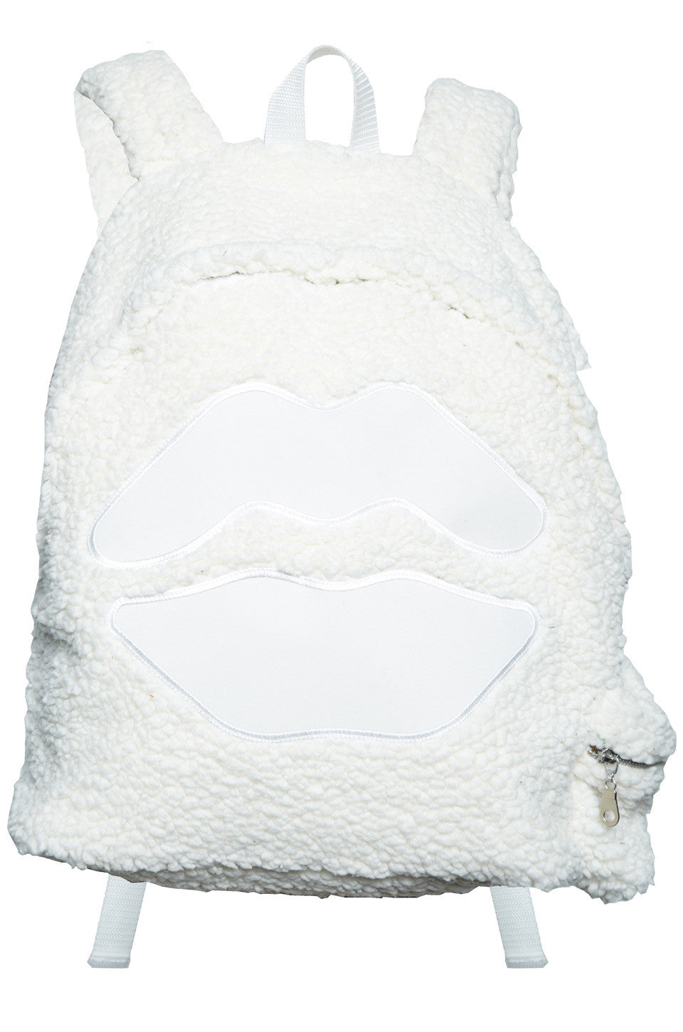 Quincy White Mouth Patch Sherpa Backpack - Lauren Moshi - 2