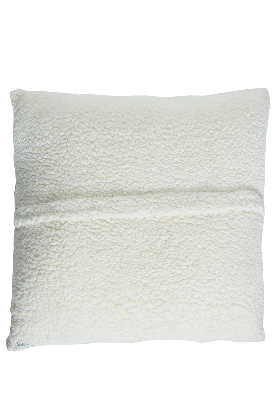 Livie Red Mouth Patch Faux Fur Pillow - Lauren Moshi - 3