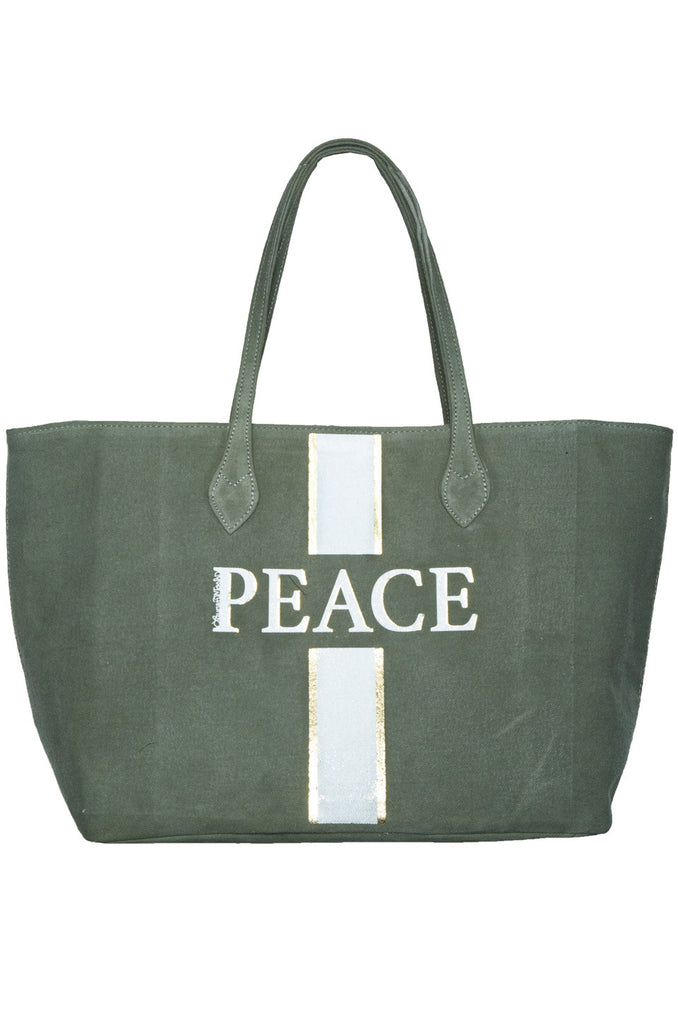Jackie Peace Stripe Tote Bag