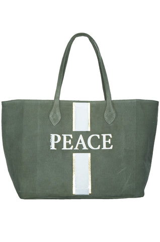 Jackie Peace Stripe Tote Bag - Lauren Moshi