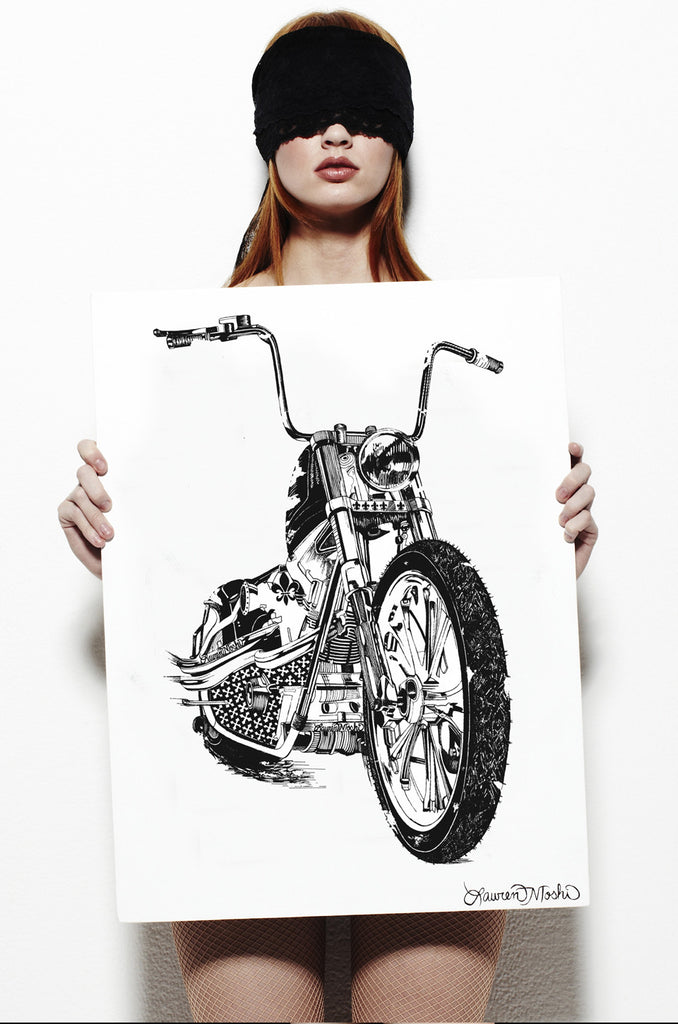 Canvas Chopper Art
