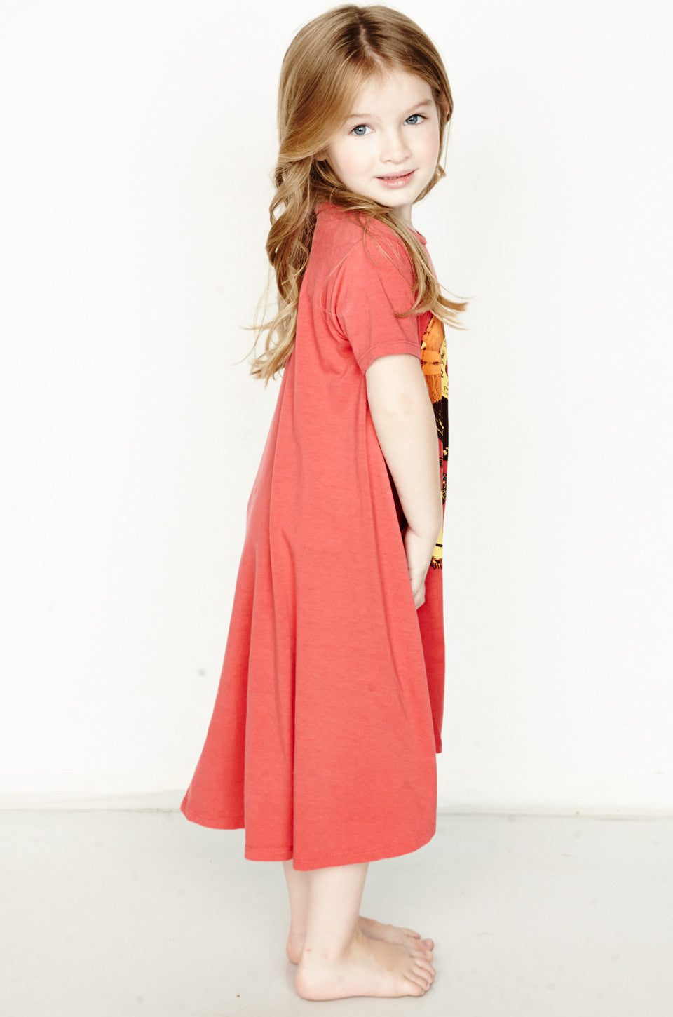 Beauty Color Record Short Sleeve Swing Dress - Lauren Moshi - 3