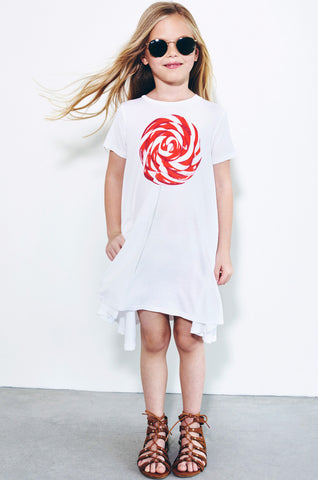 Lauren Moshi Kids Women's Beauty Lollipop S/S Swing Dress