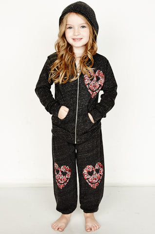 Shaggy Happy Sky Peace L/S Zip Up Hoodie Jumpsuit