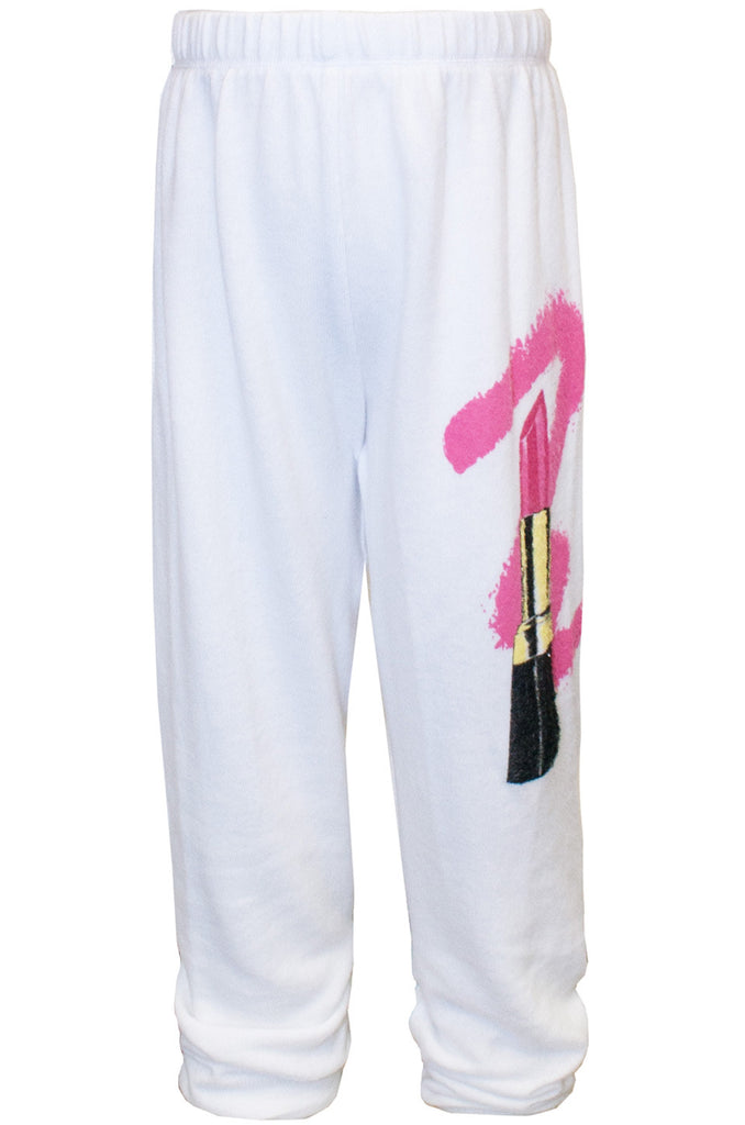 Mouse Color Lipstick Sweatpants W/ Elastic