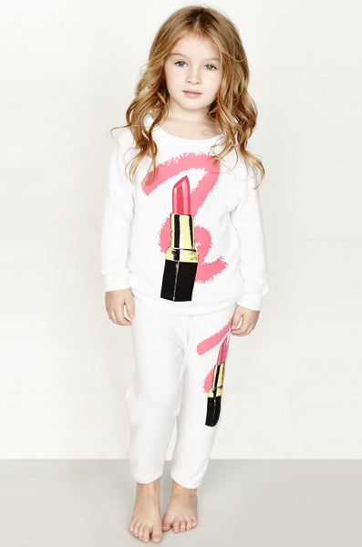 Mouse Color Lipstick Sweatpants W/ Elastic - Lauren Moshi - 1