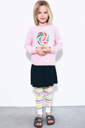 Rocky Rainbow Pop w/Star Sleeve Pullover