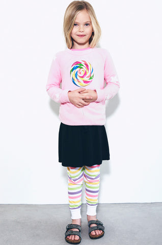 Lauren Moshi Kids Women's Rocky Rainbow Pop w/Star Sleeve Pullover
