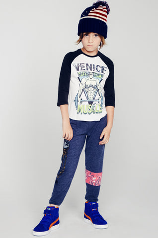 Bunny Color Muscle 3/4 Slv Raglan - Lauren Moshi - 1