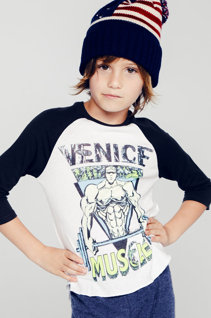 Bunny Color Muscle 3/4 Slv Raglan