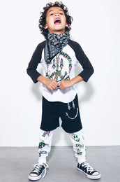 Bunny Bright Happy Peace 3/4 Slv Raglan