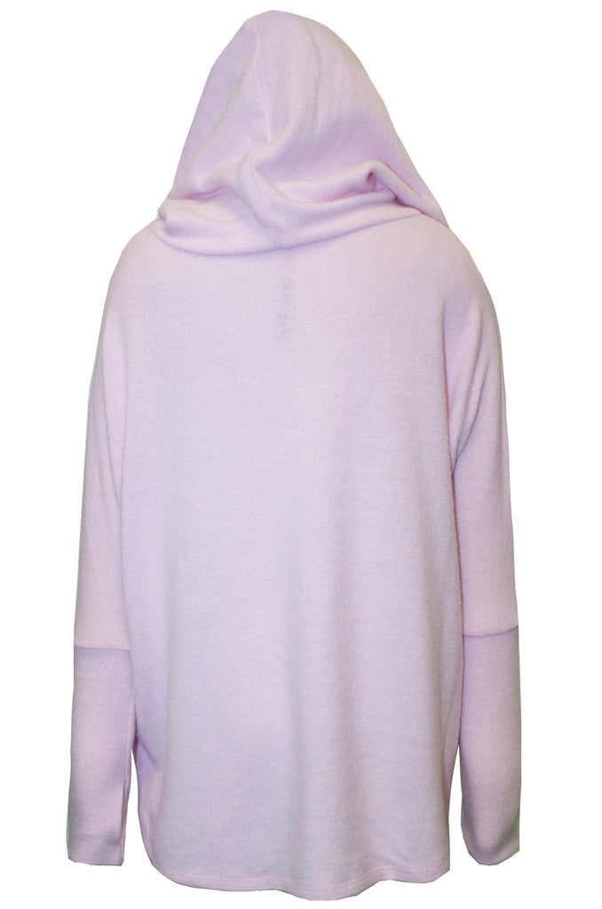 Cookie Color Rolls Oversized Pullover W/ Hood