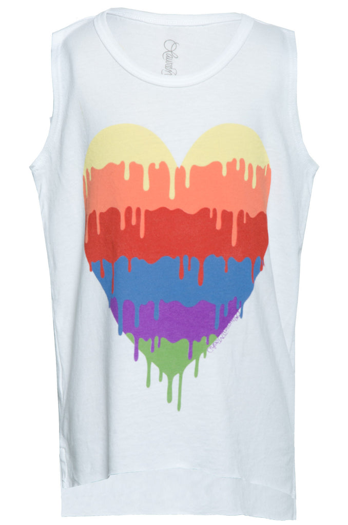 Velma Dripping Heart Tank w/ Raw Edge