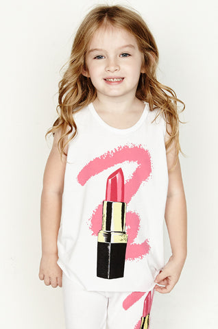 Velma Color Lipstick Tank w/ Raw Edge - Lauren Moshi - 1