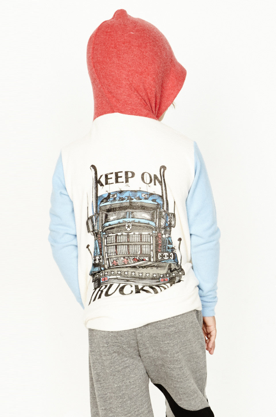 Stimpy Keep On Trucking Contrast Zip Up Hoodie - Lauren Moshi - 3