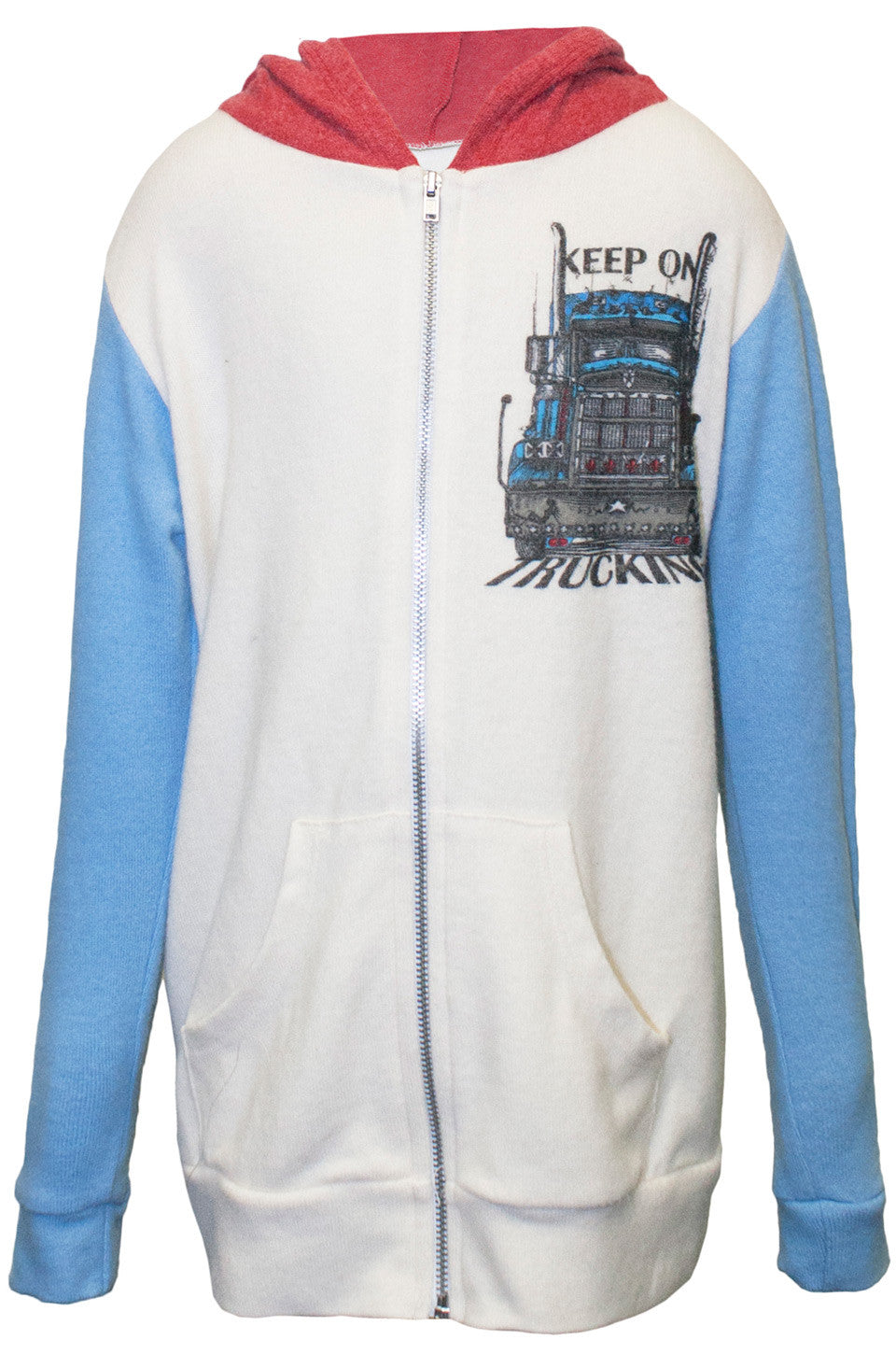 Stimpy Keep On Trucking Contrast Zip Up Hoodie - Lauren Moshi - 5