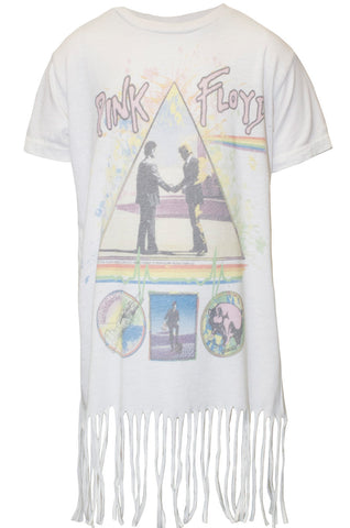 Snow Pink Floyd S/S Fringe Tee for Girls - Lauren Moshi - 2