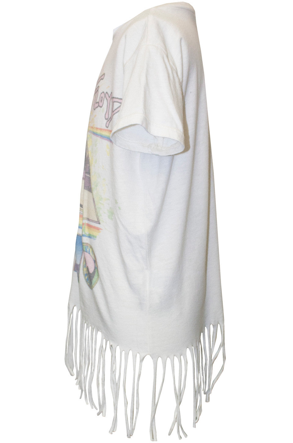 Snow Pink Floyd S/S Fringe Tee for Girls - Lauren Moshi - 3