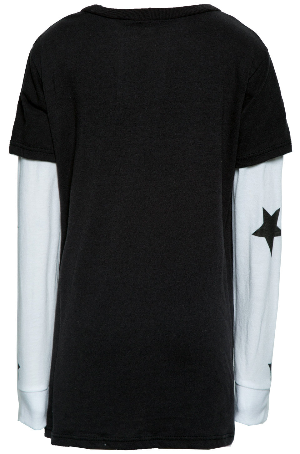 Homer Let's Play w/Star Sleeve Double Layer Tee - Lauren Moshi