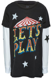 Homer Let's Play w/Star Sleeve Double Layer Tee