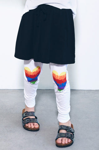 Speedy Dripping Heart Knees Skirt w/Legging - Lauren Moshi