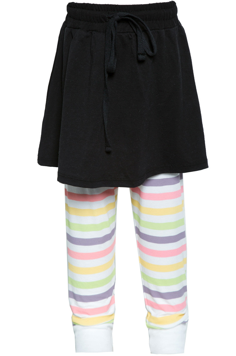 Lauren Moshi Kids Women's Speedy Mini Multi Stripes Skirt w/Legging