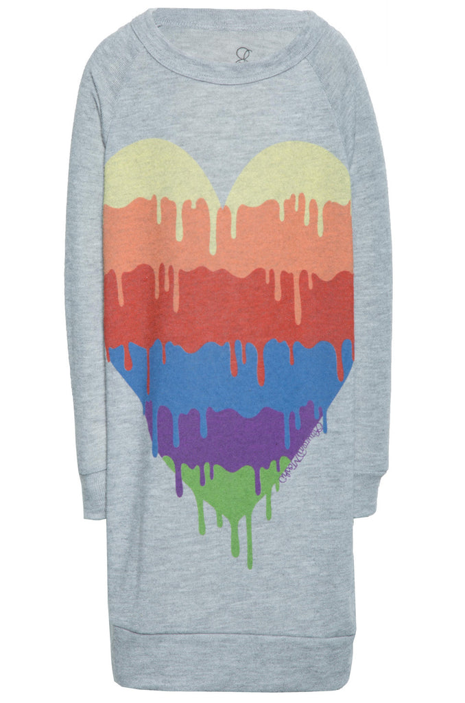 Dinky Dripping Heart L/S Pullover Sweatshirt Dress