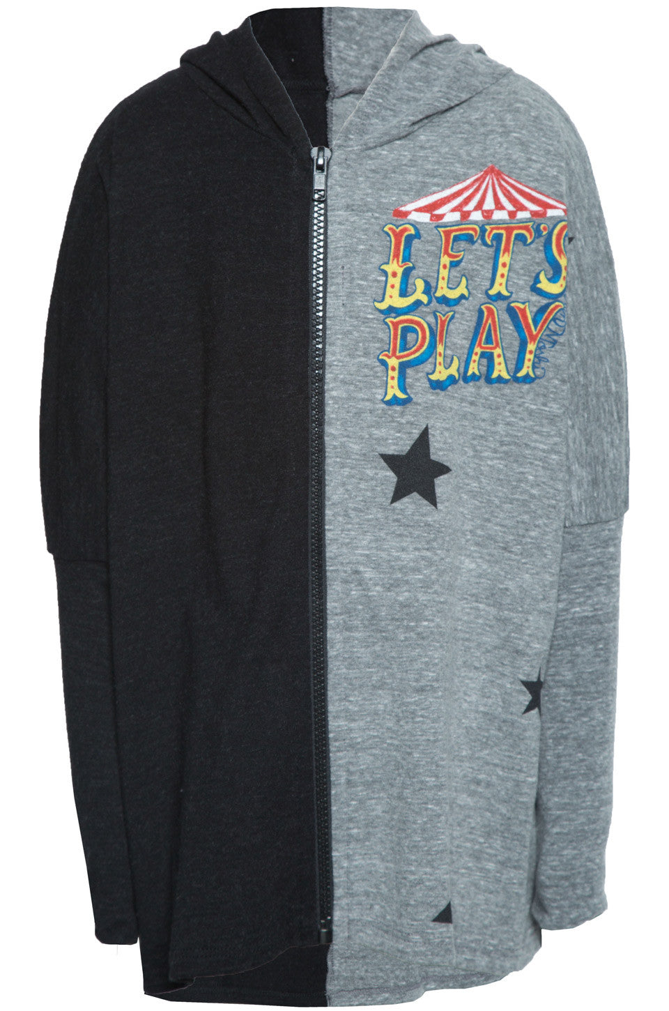Lauren Moshi Kids Women's Elmer Let's Play w/Stars Zip Up Hoodie