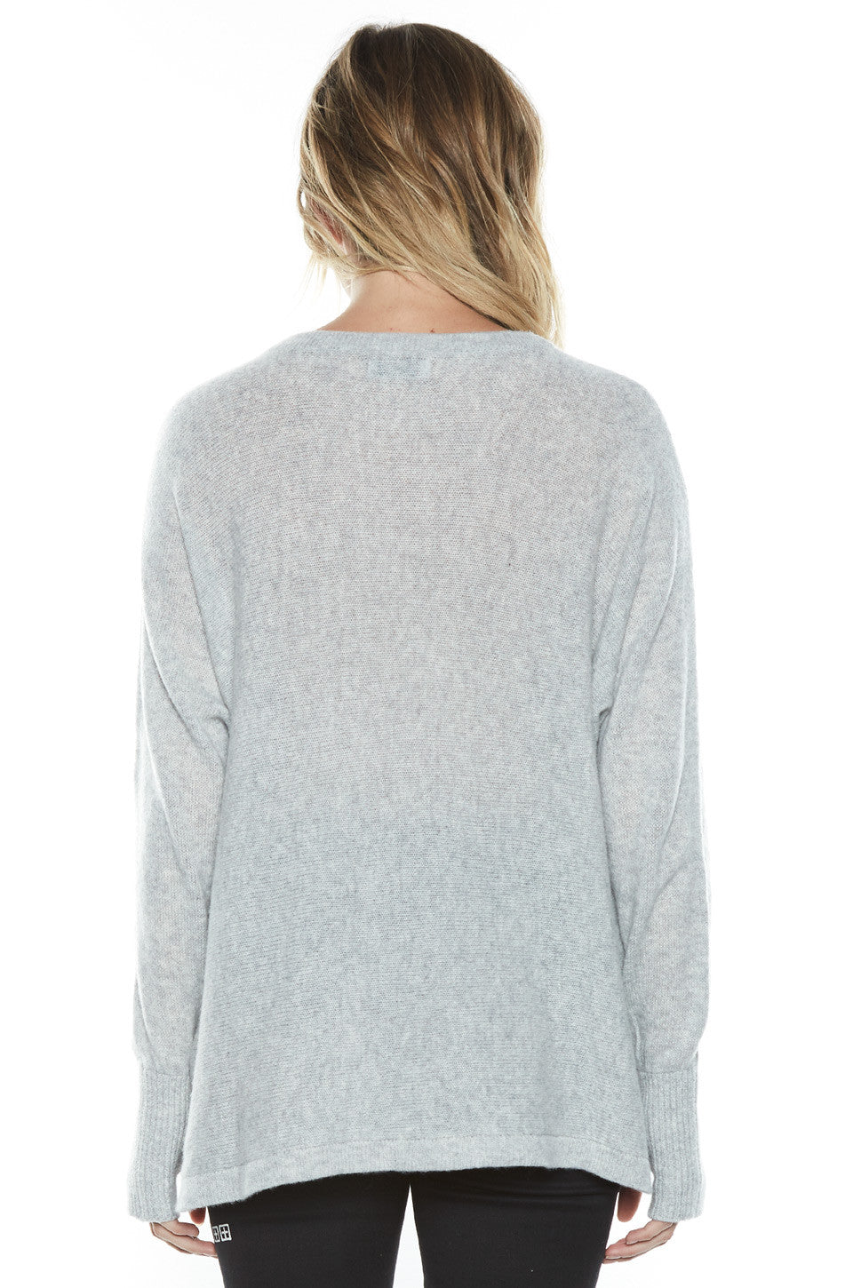 Lauren Moshi Women's Hollis Heart Breaker L/S Cashmere Pullover Sweater w/Thumbholes