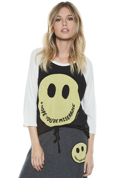 Maglan Color Happy Miserable Boyfriend Raglan - Lauren Moshi - 1