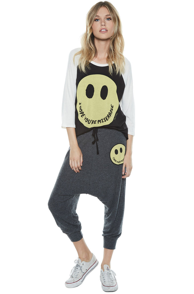 Maglan Color Happy Miserable Boyfriend Raglan - Lauren Moshi - 2