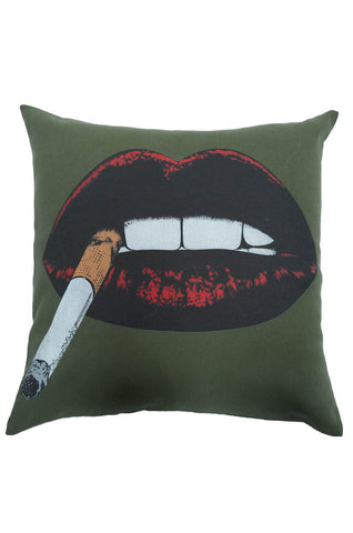 Zody Color Cig Lip Canvas Pillow - Lauren Moshi