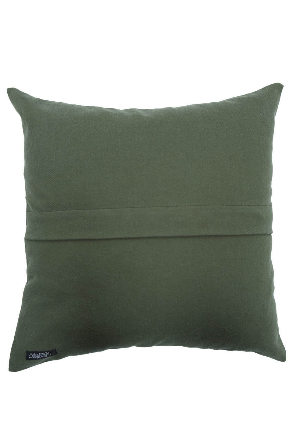 Lauren Moshi Women's Zody Color Cig Lip Canvas Pillow - Military