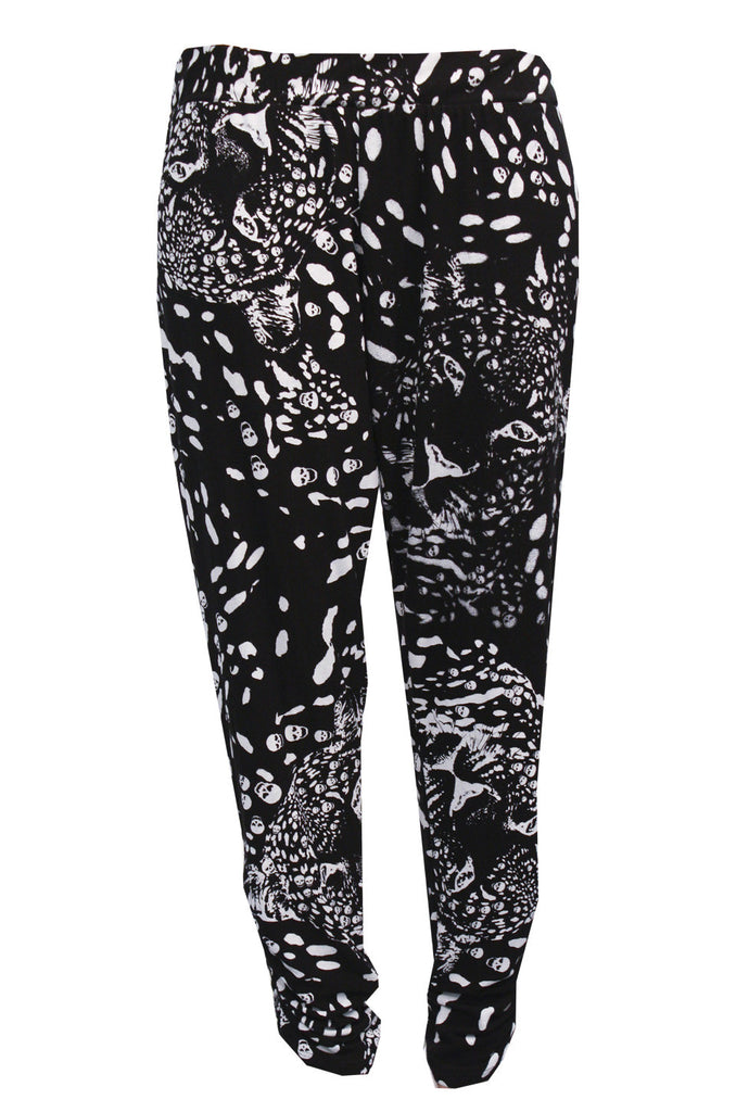 Mimi Leopard Print Pant with Sheering FINAL SALE
