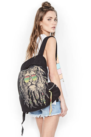 Quincy Color Rasta Lion Backpack - Lauren Moshi - 1