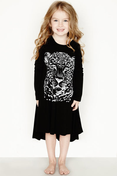 Betty Sml Leopard Head L/S Swing Dress - Lauren Moshi - 1