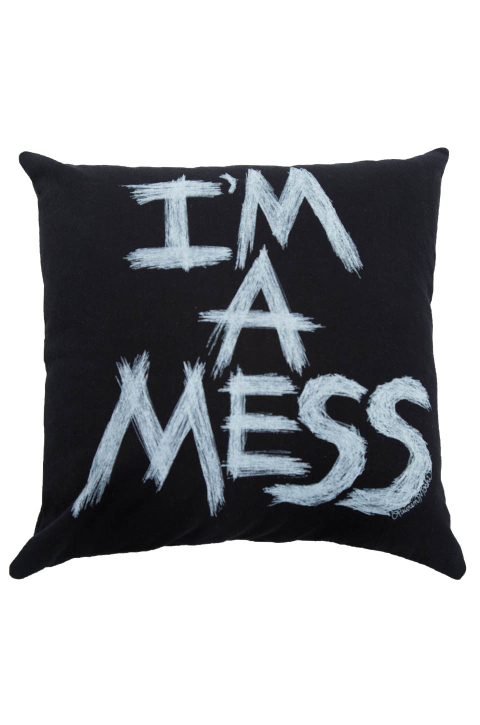 Lauren Moshi Women's Zody I'm A Mess Canvas Pillow