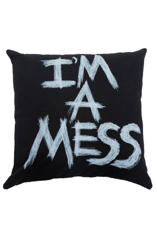 Zody I'm A Mess Canvas Pillow - Lauren Moshi
