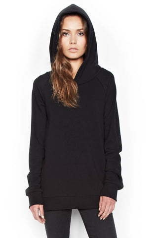 Lauren Moshi Women's Corbin Sml Star Eye Skull Pullover Hoodie W/ Side Zippers